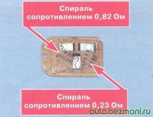 резистор электродвигателя отопителя салона