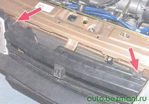 винты крепления решетки радиатора