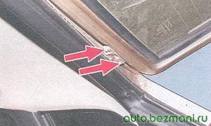 болты крепления крышки багажника к петлям