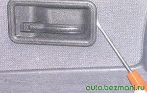 розетка внутренней ручки замка двери