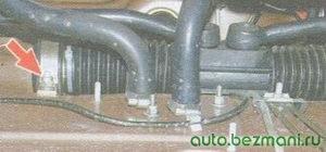 крепление рулевого механизма к кузову автомобиля
