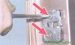 винты крепления замка двери ваз 2108, ваз 2109, ваз 21099