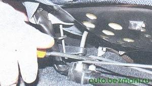 торсионы переднего сиденье
