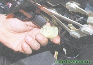 разъем переключателя вентилятора отопителя салона