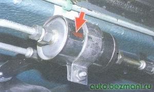 стрелка направления установки топливного фильтра