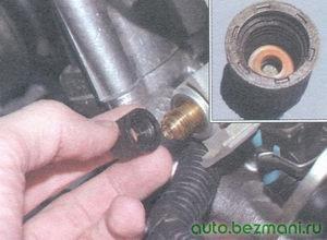 пробка штуцера для контроля давления топлива