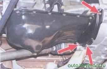 болты крепления защитного щитка картера сцепления ваз 2108, -2109, -21099