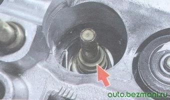 маслосъемный колпачок - втулка клапана