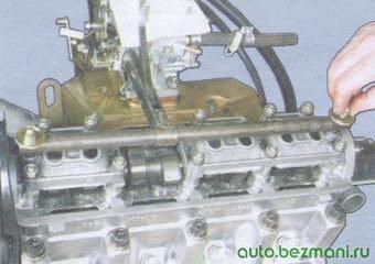 приспособление для утапливания толкателей клапанов