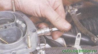 провод вывода запорного электромагнитного клапана карбюратора
