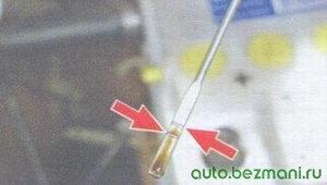 проверка уровня масла в коробке передач