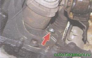 маслоналивная пробка картера коробки передач