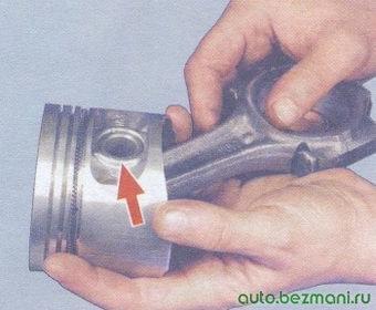 поршневой палец - поршень - шатун