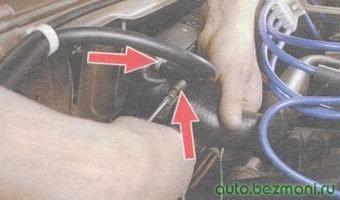 верхние шланги радиатора