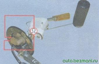 проверка датчика указателя уровня топлива