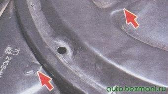 крышка воздушного фильтра - корпус воздушного фильтра