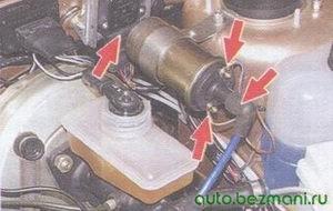 катушка зажигания - центральный высоковольтный провод - коммутатор