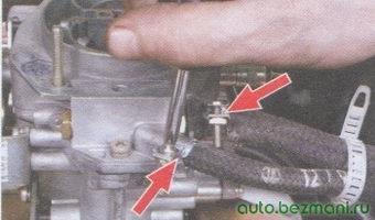 подводящий шланг и шланг обратного слива топлива