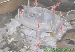 винты крепления верхней крышки карбюратора ваз 2108, ваз 2109, ваз 21099