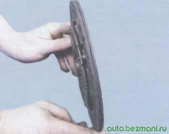 ведомый диск сцепления - проверка биения