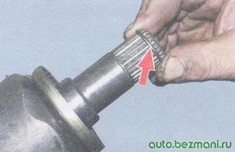 стопорные кольца на шлицевых концах внутренних ШРУСов