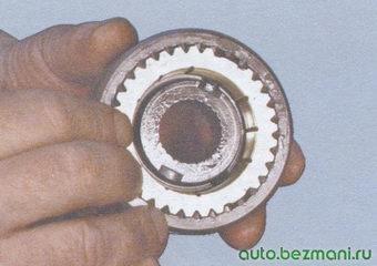 установка блокирующего кольца синхронизатора
